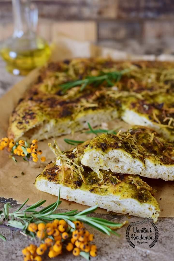 Foccacia z ziołami i ziemniakiem