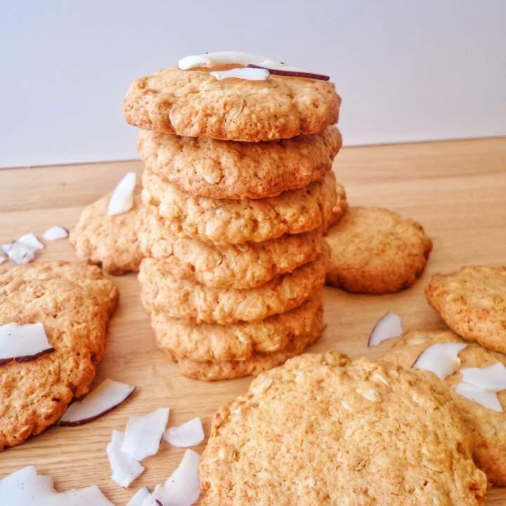 Ciasteczka kokosowe z płatkami owsianymi (Biscotti di cocco e fiocchi d'avena)