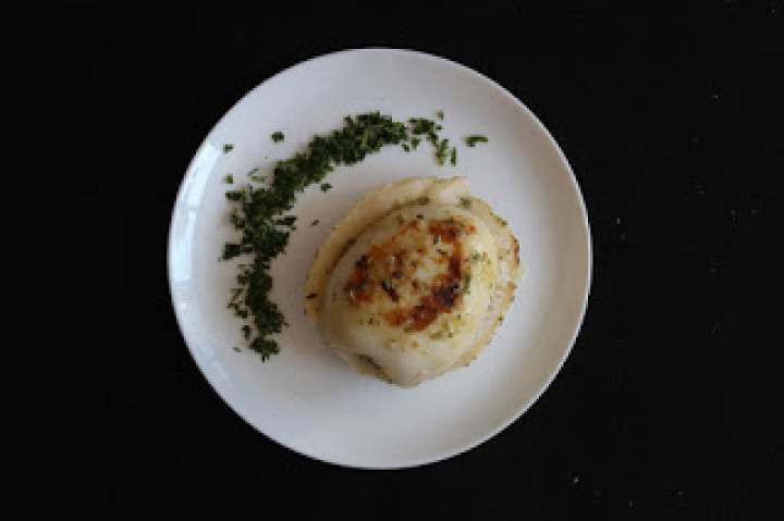 Kalmary faszerowane boczkiem i ziemniakami