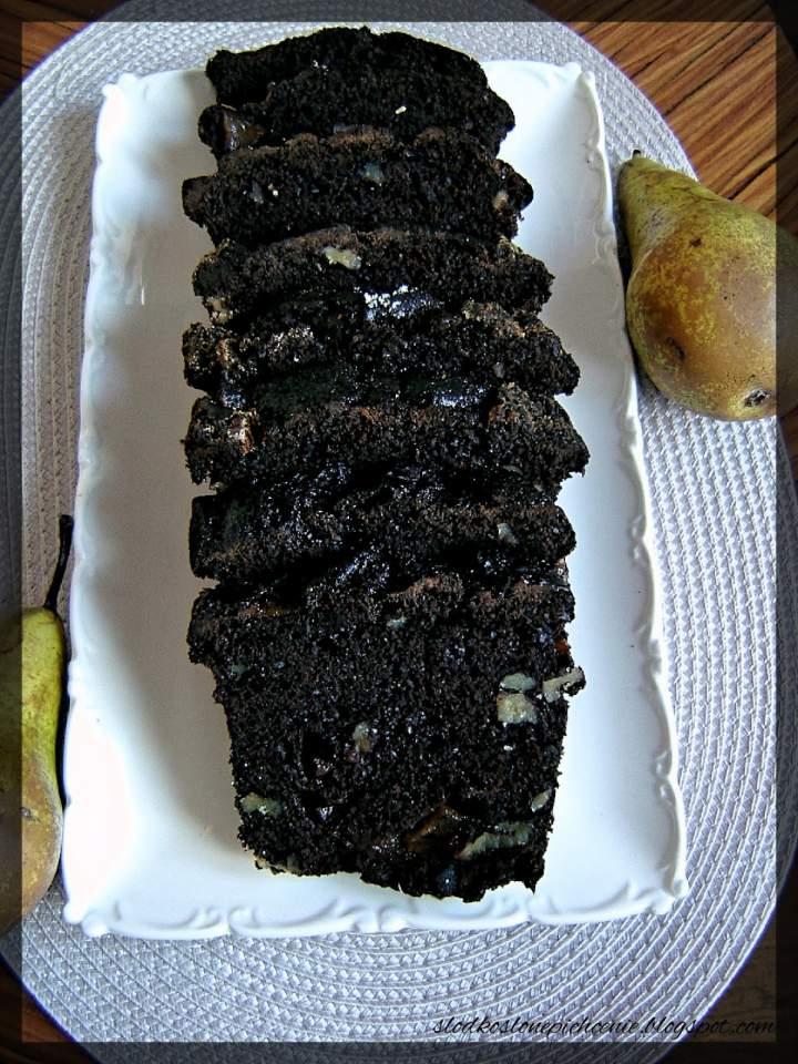 Kakaowe ciasto z gruszkami