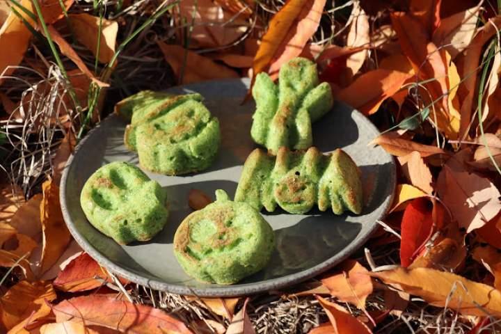 Halloweenowe babeczki szpinakowe