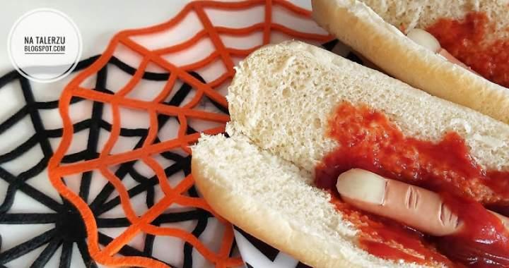 Hot dogi z wkładką ludzką na Halloween