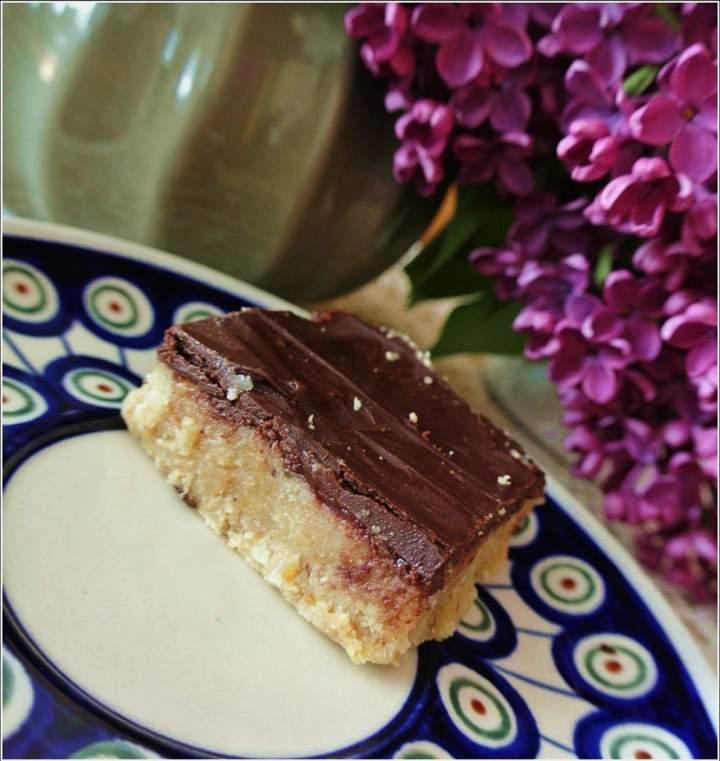 Baton proteinowy z czekoladą. (paleo, raw,wegański)