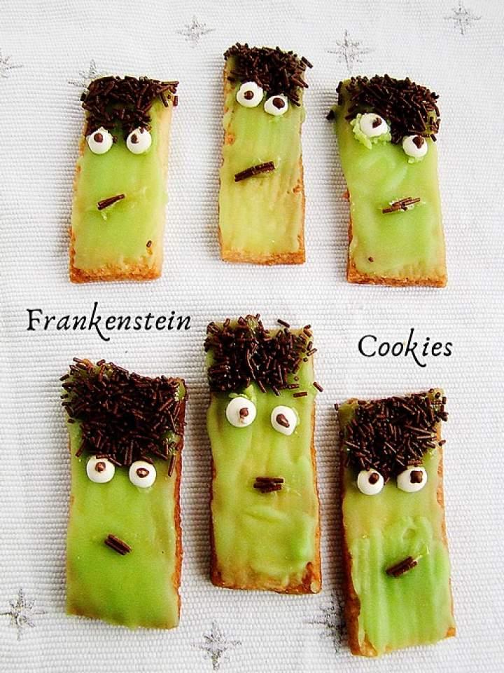 Frankenstein cookies – ciasteczka na halloween