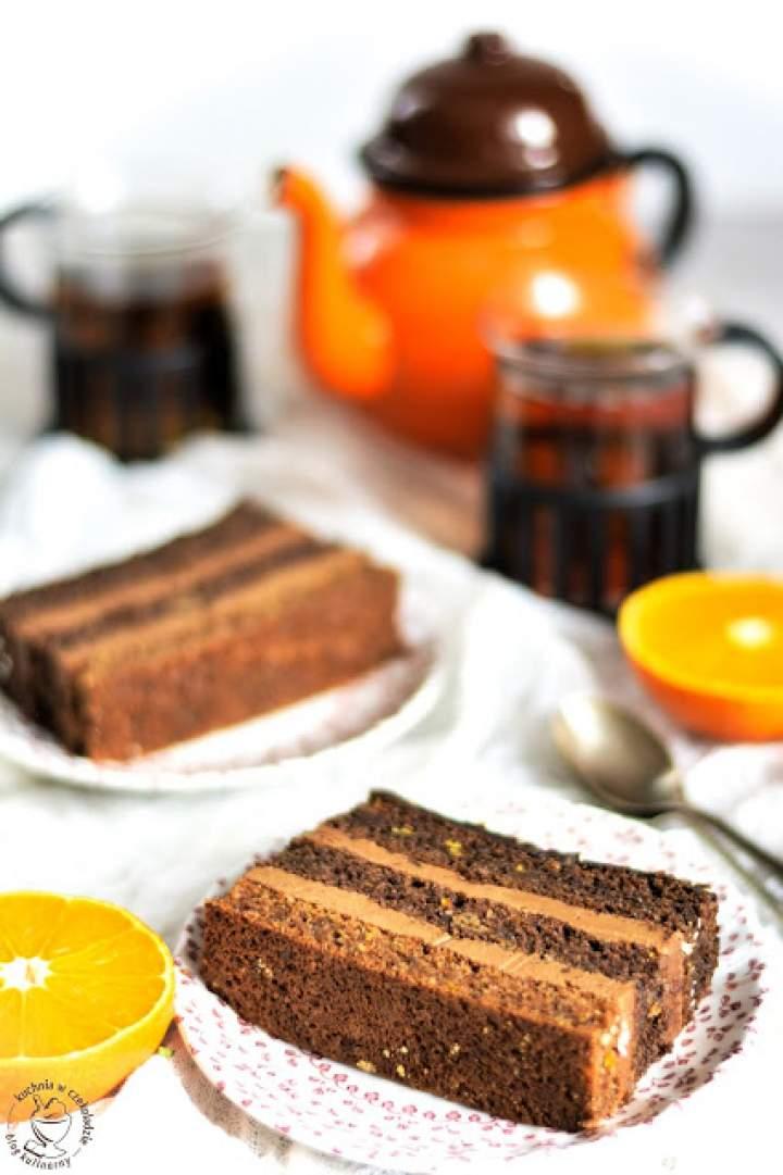 Tort pomarańczowo- czekoladowy