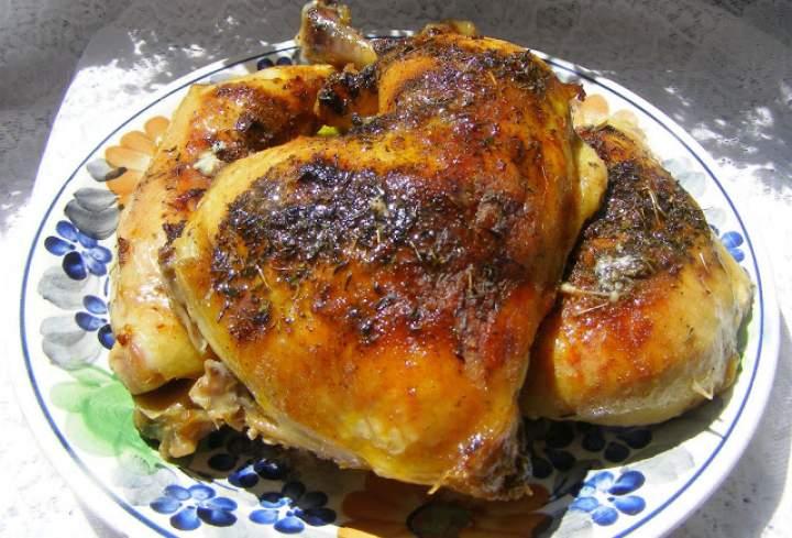 udka kurczaka pieczone z tymiankiem w piekarniku…