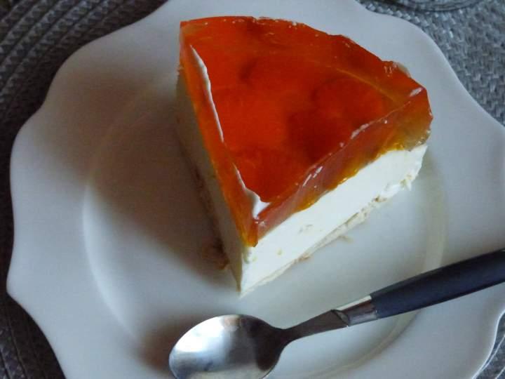 Sernik pomarańczowy(bez pieczenia)