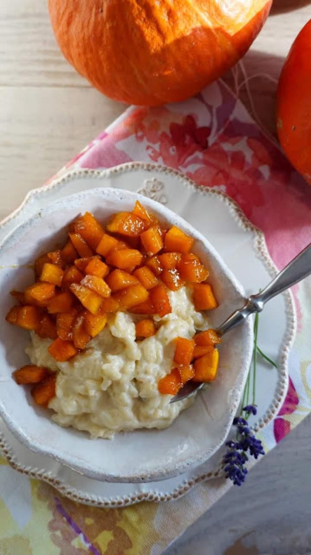 Pudding ryżowy z karmelizowaną dynią