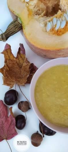 Lekko orientalna zupa z dyni z jabłkami