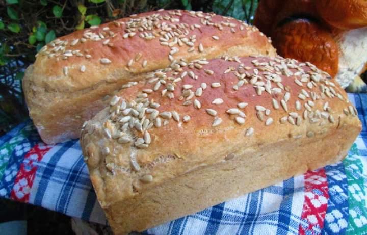 Domowy chleb bez wyrabiania,zawsze wychodzi (z mąką pełnoziarnistą) -mój HIT+FILM