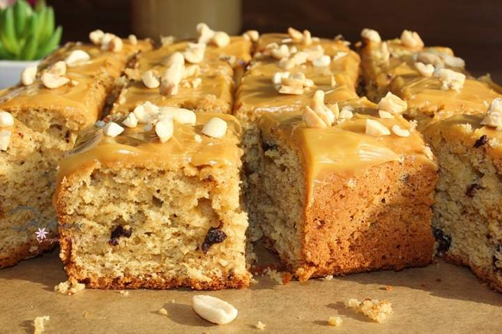 Ciasto ucierane z masłem orzechowym i czekoladą
