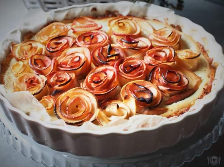 Keto tarta z budyniem i jabłkami (Paleo, LowCarb)