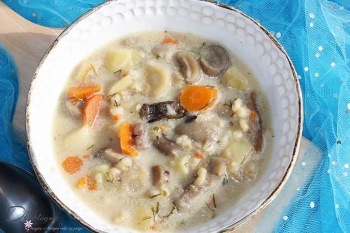 Najlepsza zupa grzybowa z kaszą pęczak i ziemniakami