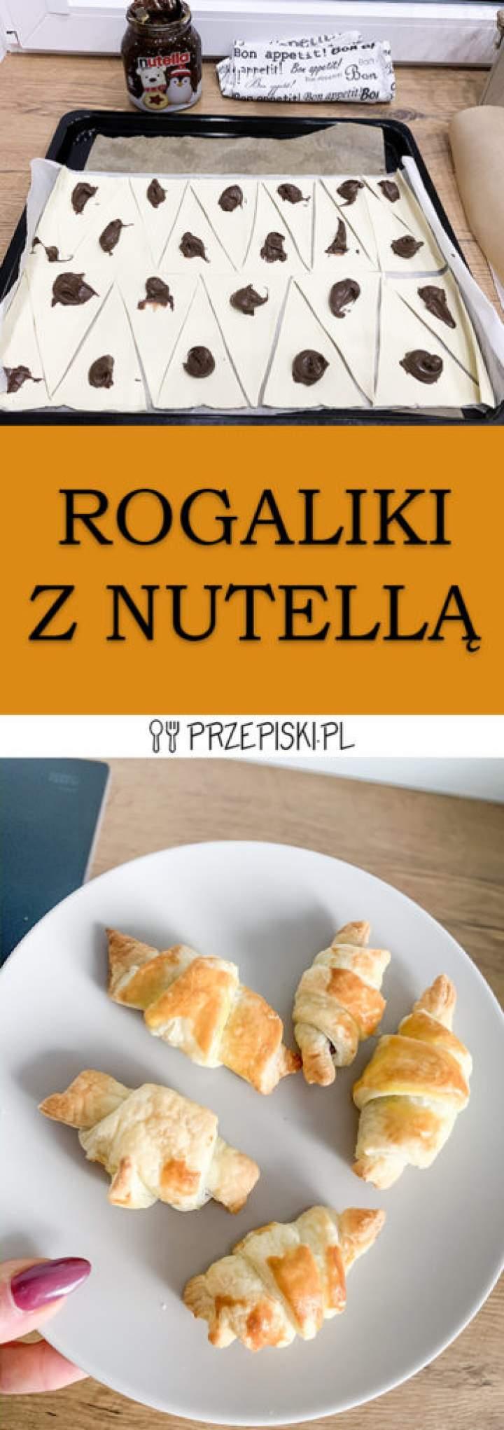 Szybkie Rogaliki z Nutellą z Ciasta Francuskiego