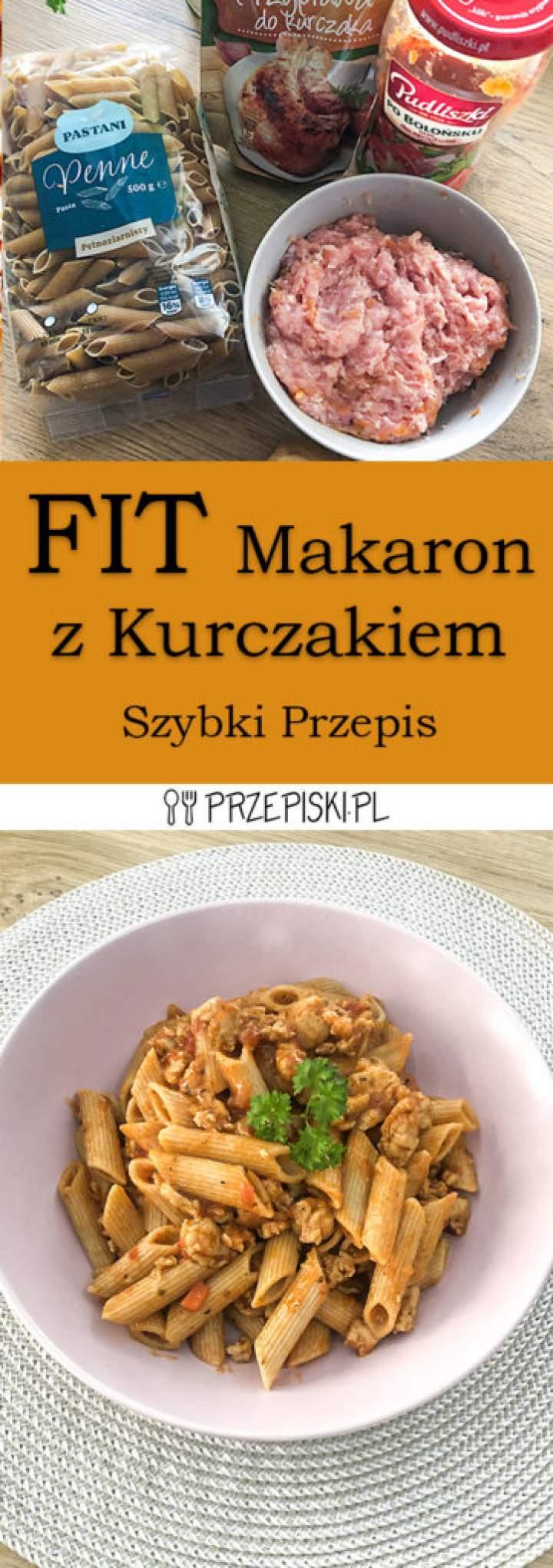 FIT Makaron z Kurczakiem w Sosie  – Szybki Przepis