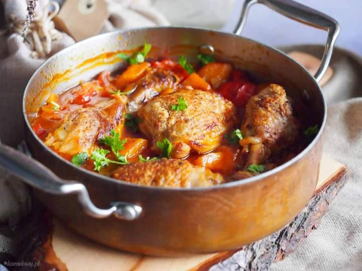 Kurczak pieczony z dynią i papryką / Chicken baked with pumpkin and bell pepper