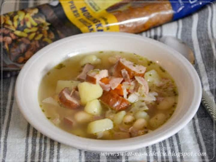 Zupa fasolowa z kiełbasą morlińską