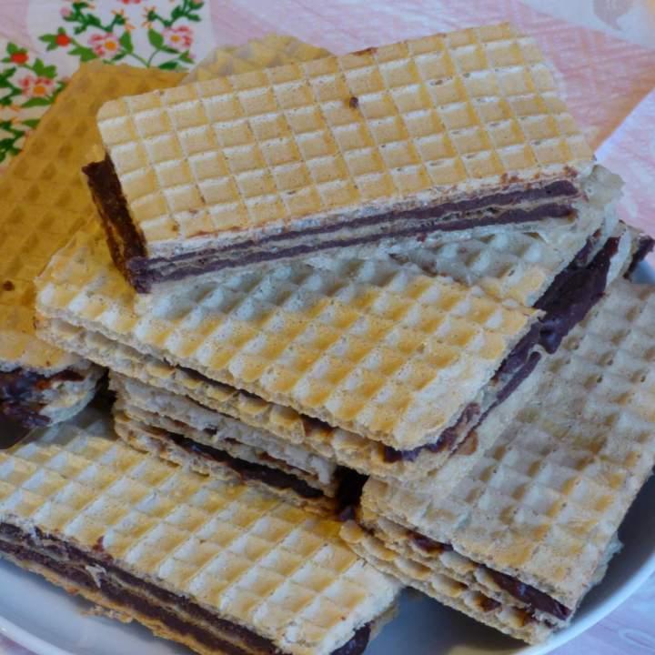 Wafle czekoladowe(proste i łatwe)