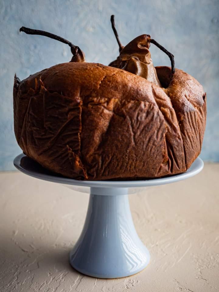 Ciasto chałwowe z gruszkami