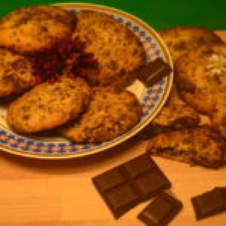 Kruche ciastka z gorzką czekoladą… duuużo gorzkiej czekolady