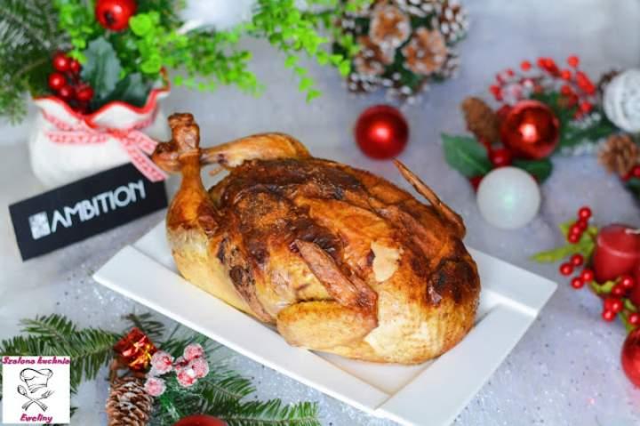Kurczak nadziany mięsem i żurawiną
