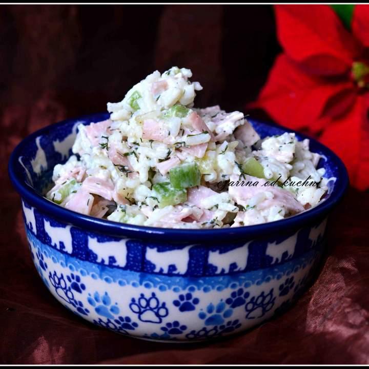 Fit sałatka ryżowa