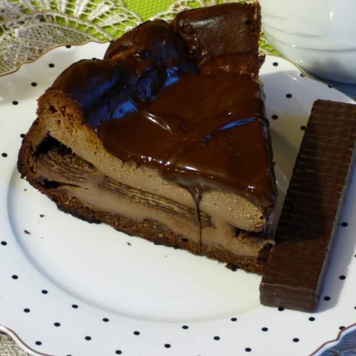 Sernik z batonikami czekoladowymi