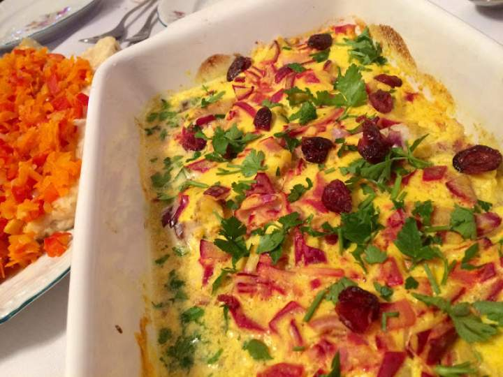Pyszna pieczona ryba – zapiekana ryba z żurawiną w musztardowo- cytrynowym sosie