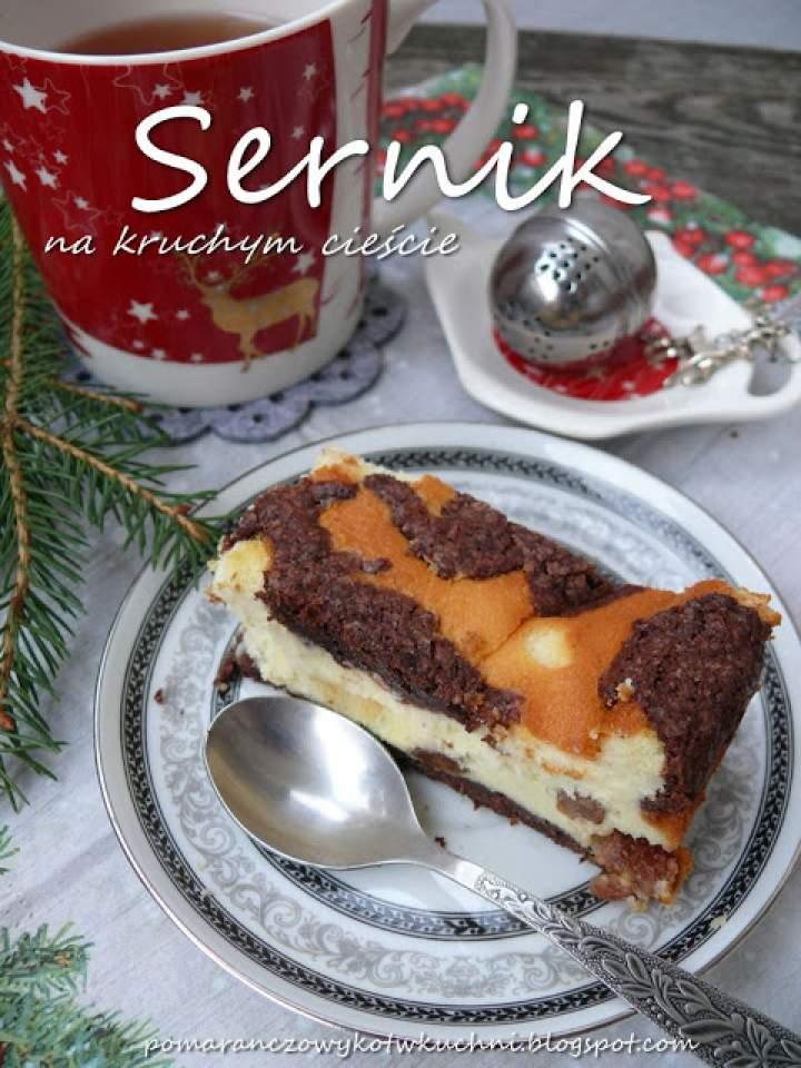 sernik na kruchym cieście i Wesołych Świąt! :)