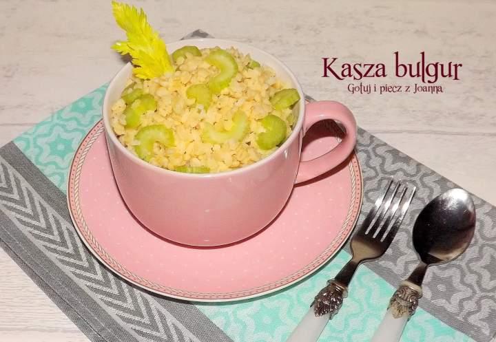 Kasza bulgur jako samodzielne danie lub dodatek do miesa lub ryby