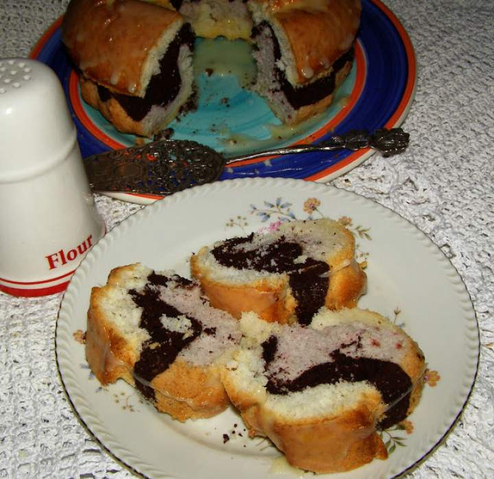 kolorowa babka z białek, łatwa, smaczna, tania…