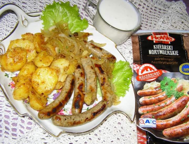 kiełbaski z ziemniakami na obiad…