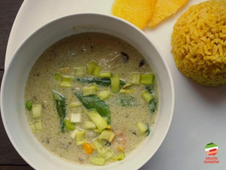Tajskie zielone curry z galangalem i kafirem