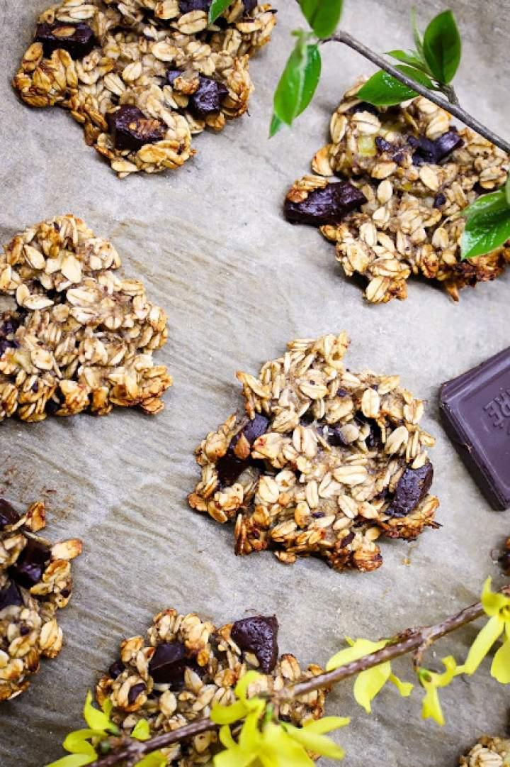 Kryzysowe ciastka z trzech składników – czekoladowo – owsiane z bananami