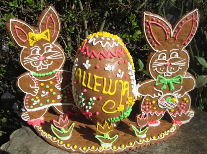 Moje piernikowe wyroby Wielkanoc 2020 Jajka 3d, pierniczki, zajączki, kompozycje
