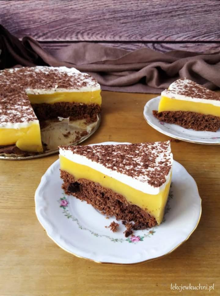 Torcik bezglutenowy (owsiany) z budyniem / Gluten Free Layer Cake