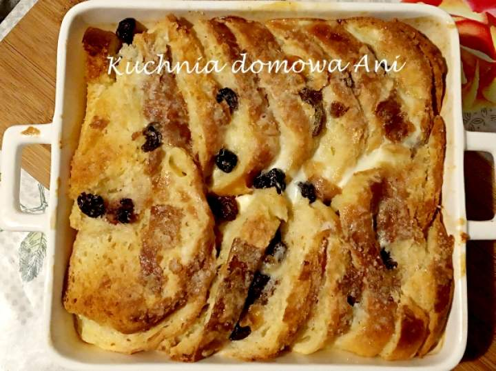 Angielski pudding z rodzynkami / Bread and butter pudding