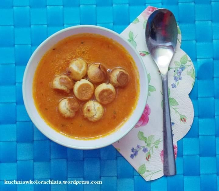 Zupa marchewkowa z Ajvarem