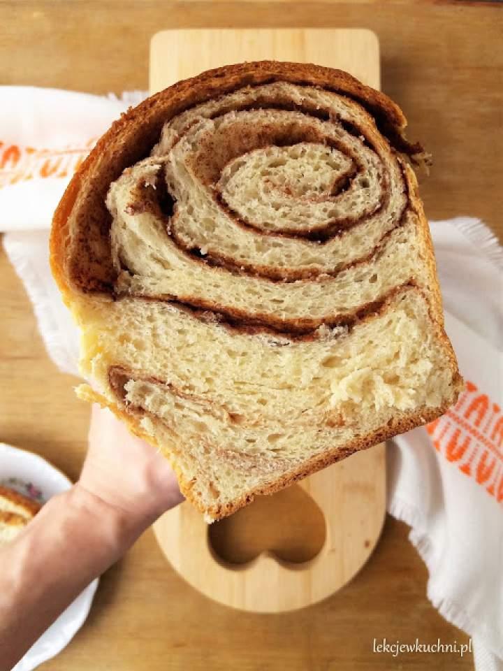 Drożdżowe ciasto japońskie z cynamonem / Tangzhong Method Cinnamon Milk Bread