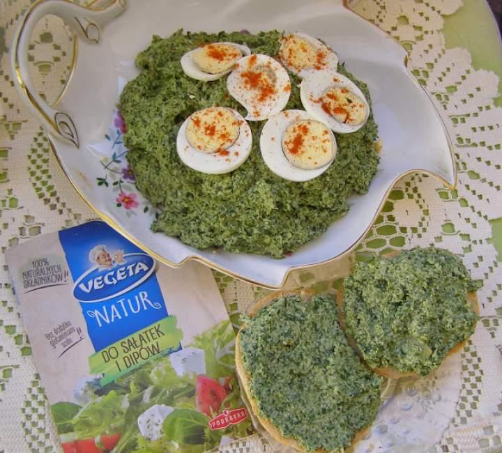 smaczna szpinakowo-jajeczna pasta nie tylko do pieczywa…