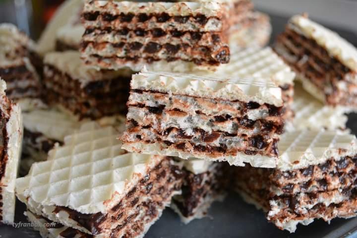 Kajmaki kakaowe (wafle domowe)