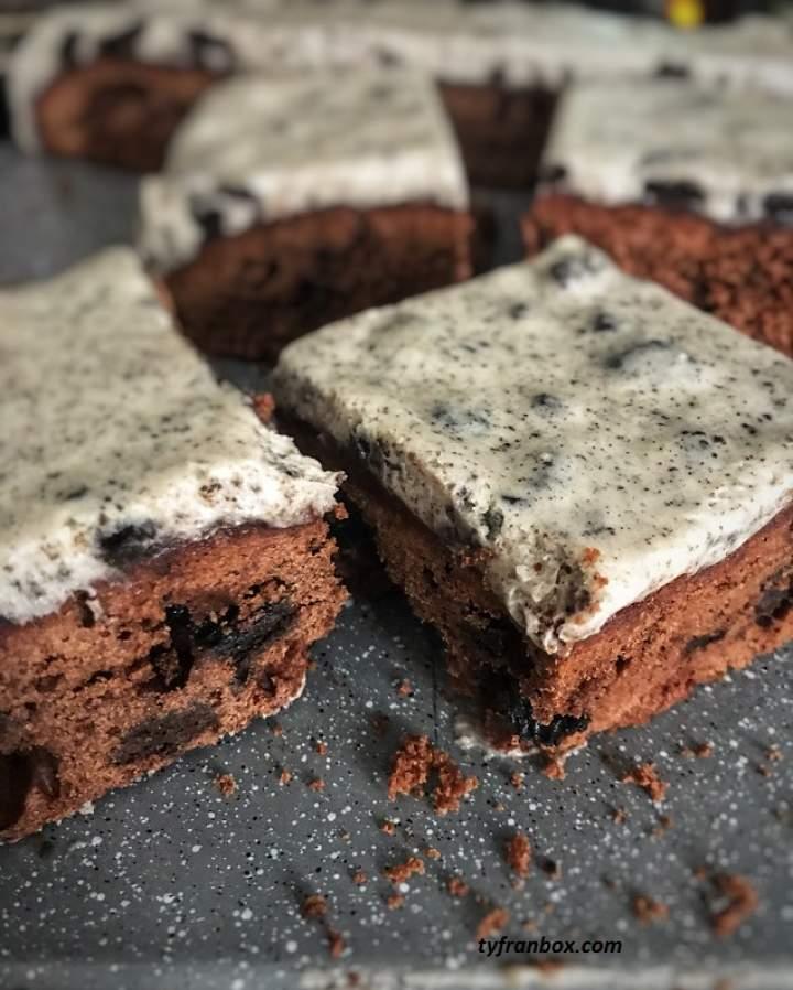 Brownie z ciasteczkami Oreo