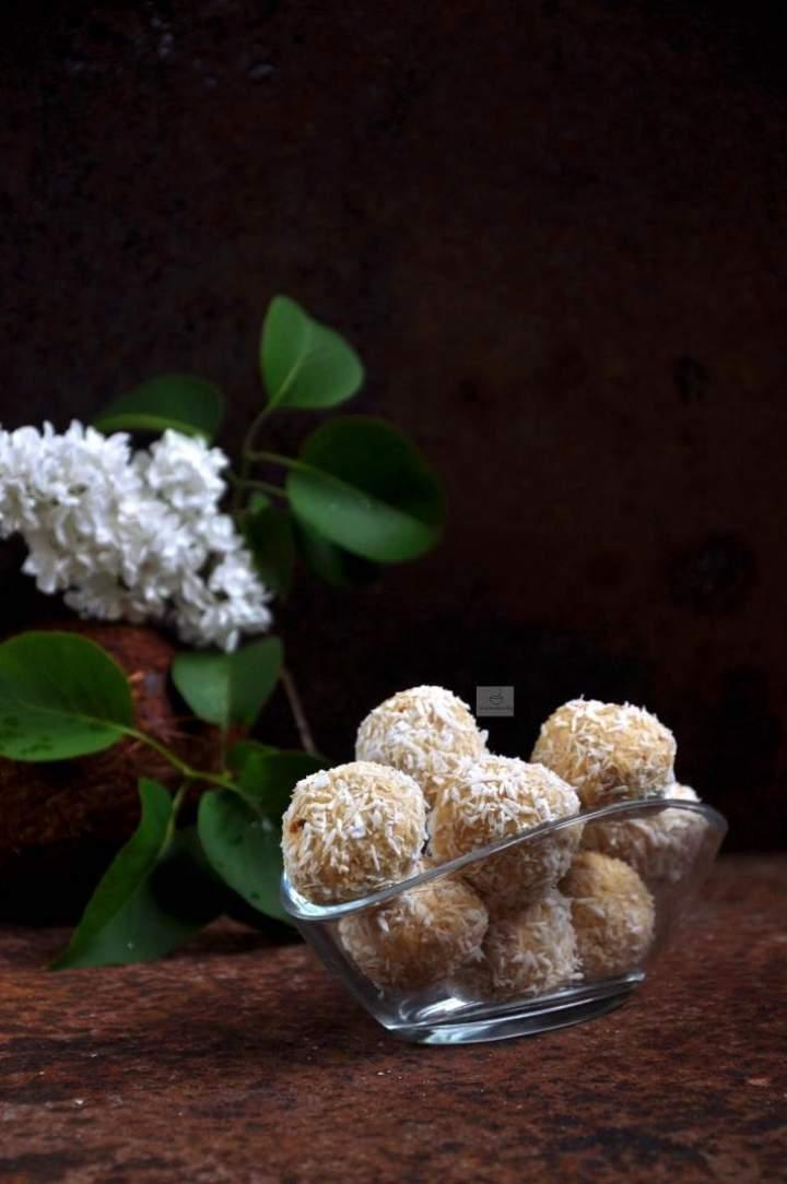 Kulki kokosowe z pulpy po mleku kokosowym