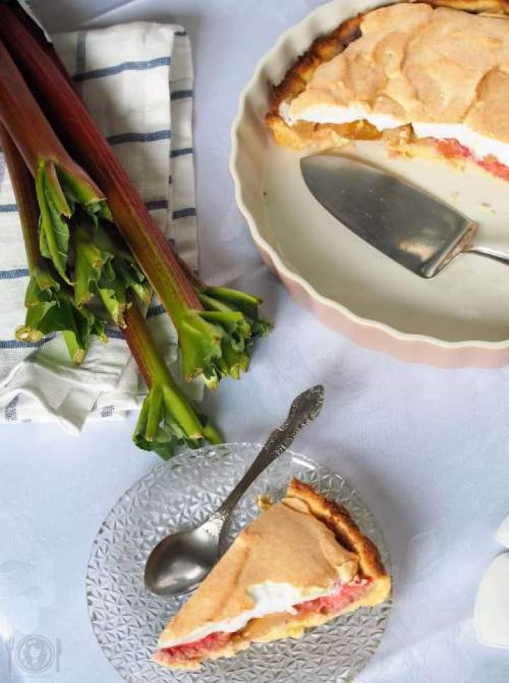 Keto ciasto z rabarbarem i bezą (Paleo, LowCarb)
