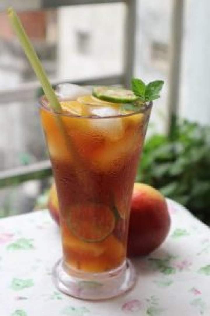 Mrożona herbata brzoskwiniowa.