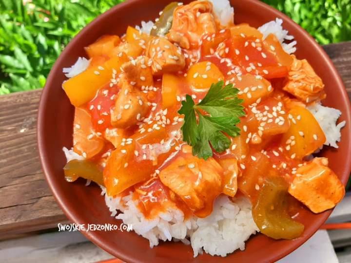 Kurczak w sosie słodko kwaśnym -szybki obiad