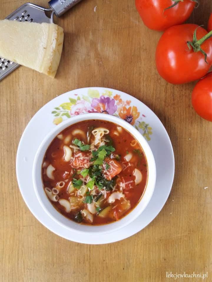 Włoska zupa pomidorowo-jarzynowa (Minestrone) / Minestrone Soup