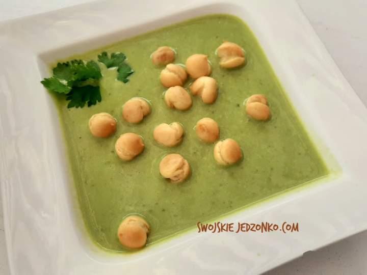 Zupa krem z zielonego groszku w kilka minut