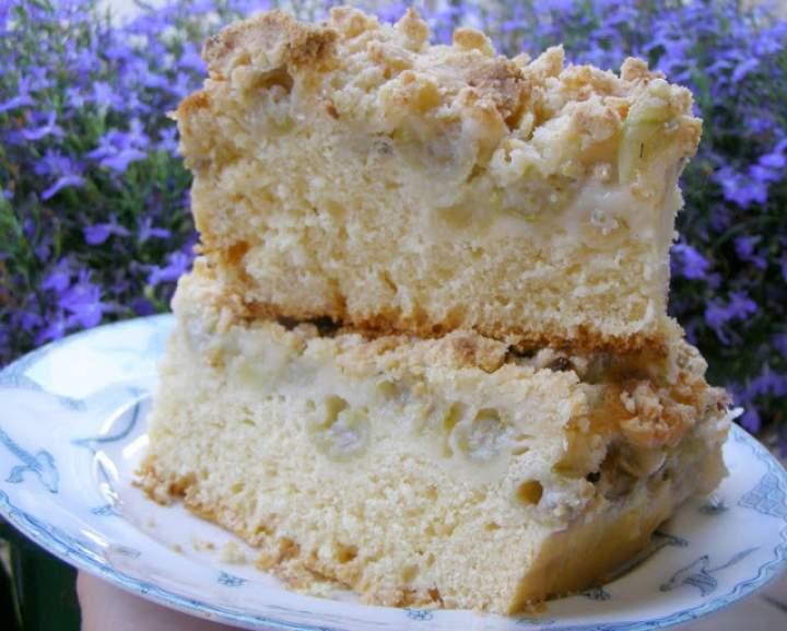 pyszne ciasto drożdżowe z agrestem i kruszonką…