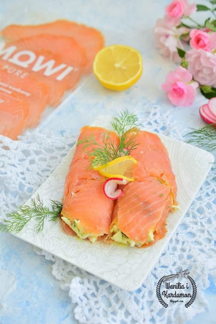Śniadaniowe roladki z łososiem MOWI